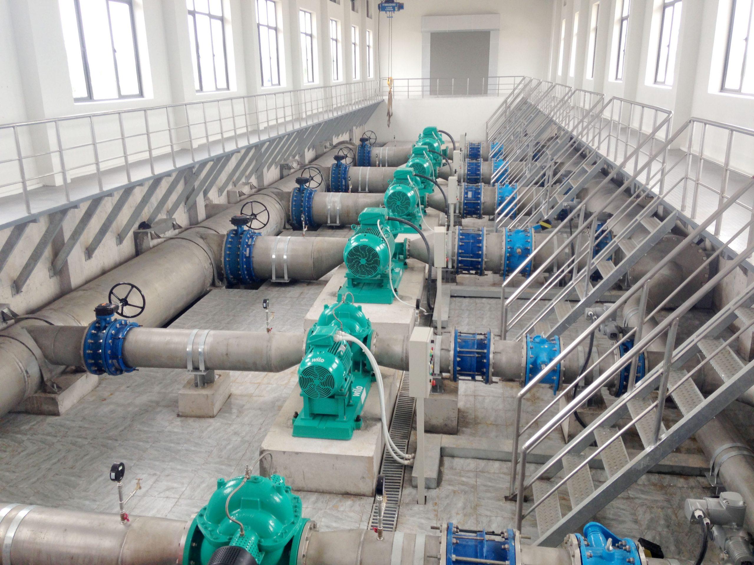 Thi công lắp đặt công nghệ nhà máy nước Hưng Đạo – Hải Phòng