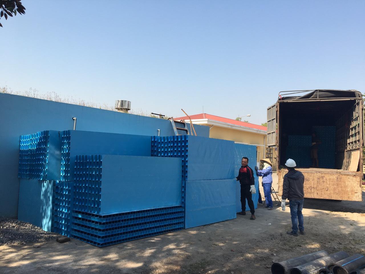 Cung cấp ống lắng Lamella cho nhà máy Vĩnh Bảo